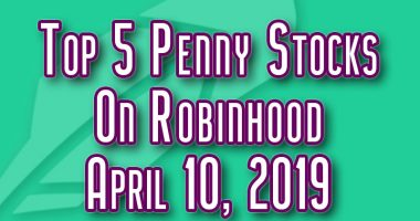 top penny stocks robinhood april 10