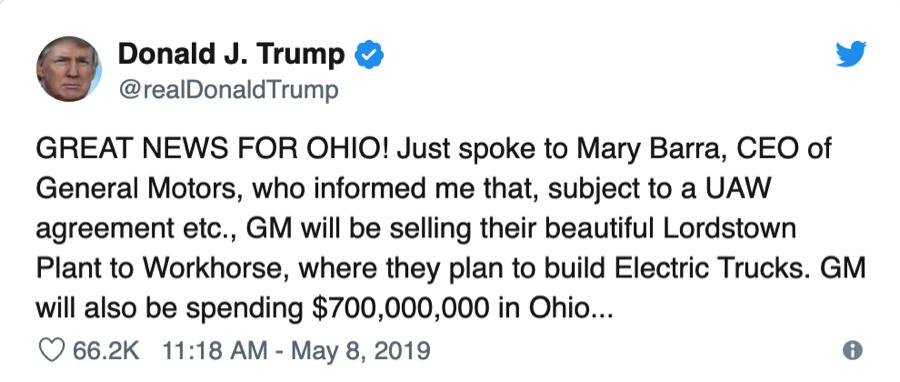 trump tweet penny stock