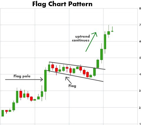 bull flag penny stock chart pattern