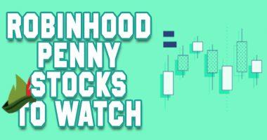 robinhood penny stocks today