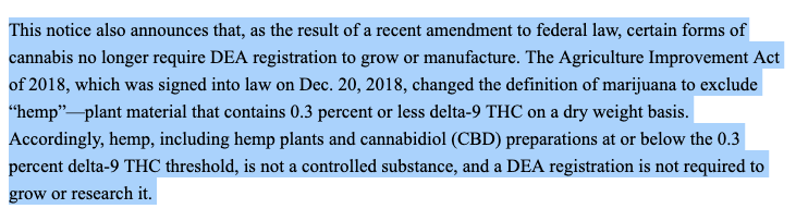 marijuana stocks DEA rules