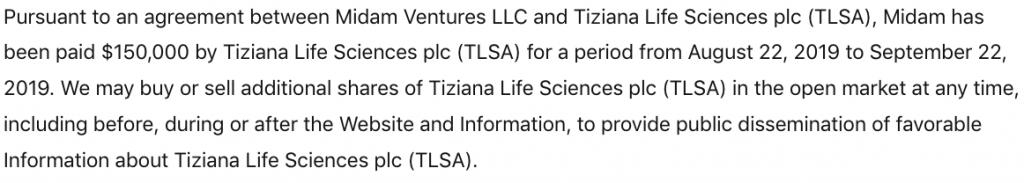 penny stocks to watch TLSA disclaimer