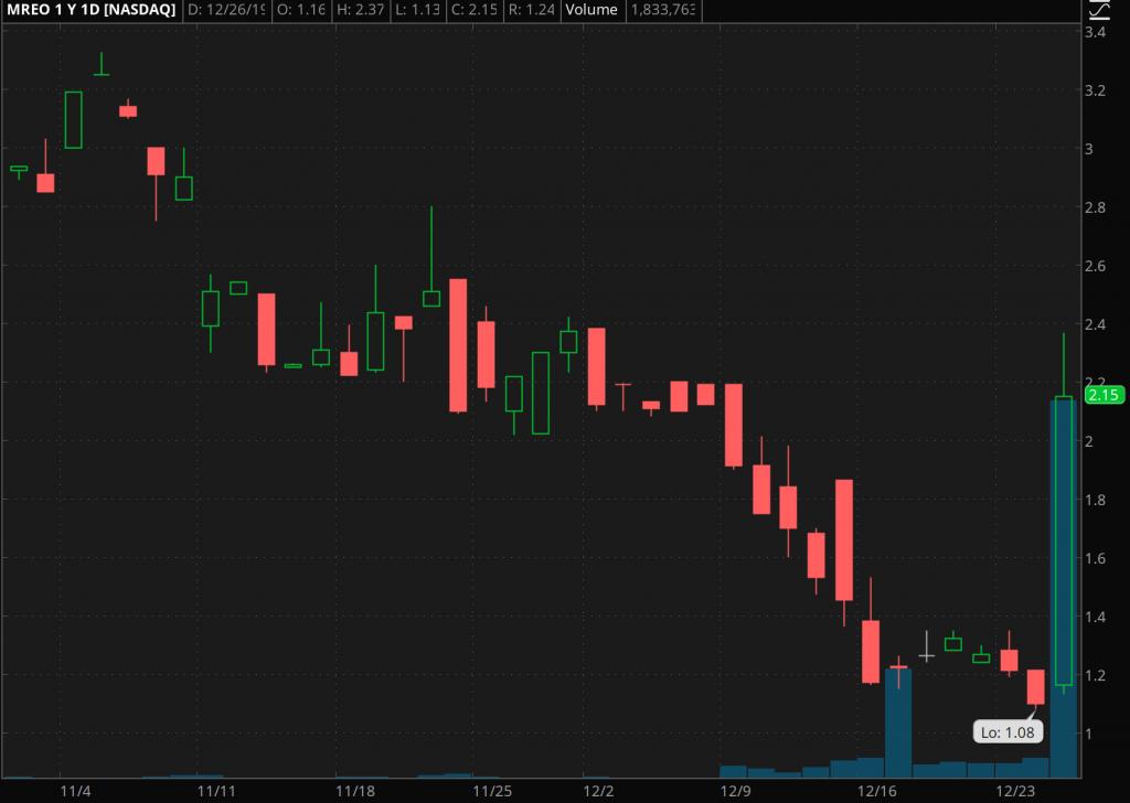 penny stocks to trade Moreo Biopharma Group (MREO)