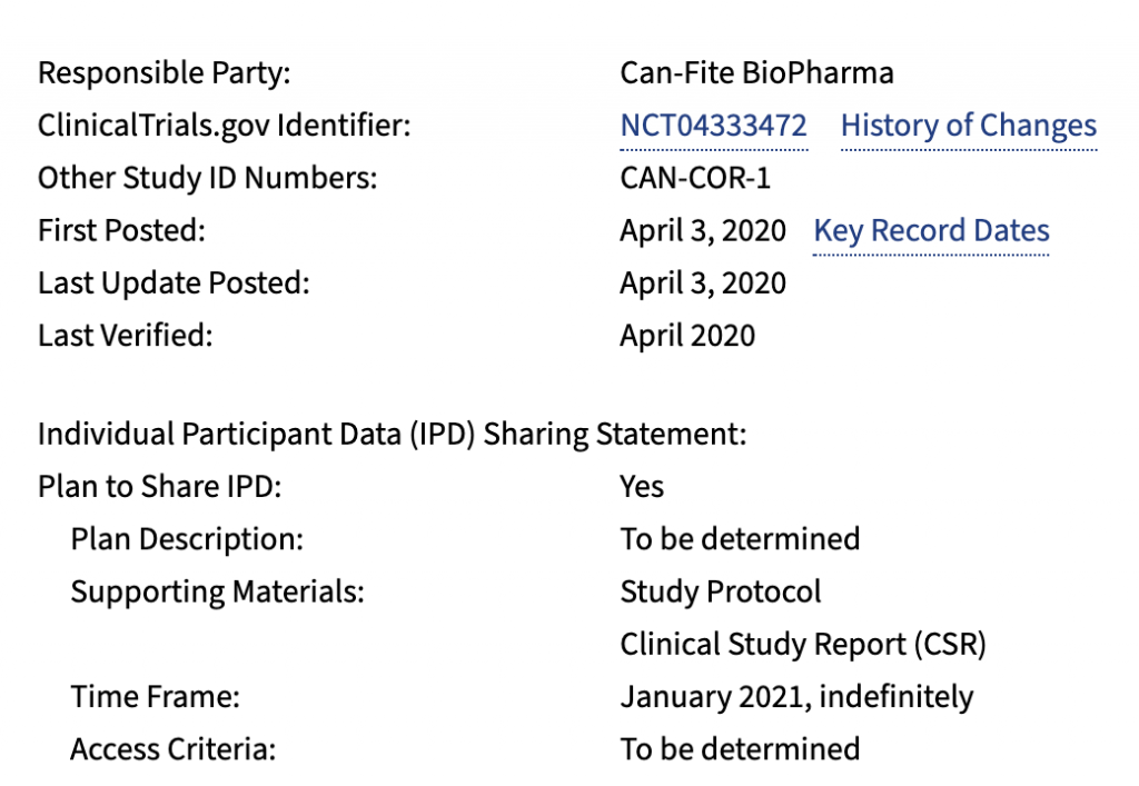 Can-Fite BioPharma study (CANF)