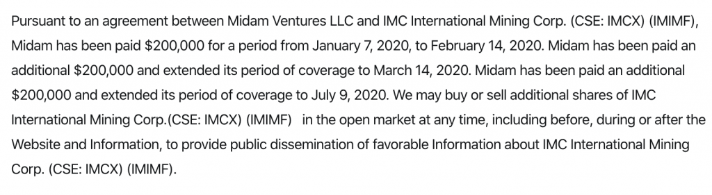 penny stocks IMC International Mining (IMCX) (IMIMF) Disclaimer