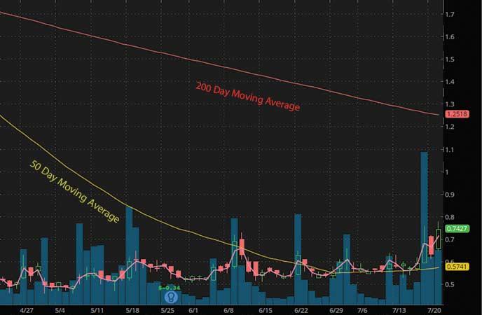 penny stocks to buy under $1.50 Check-Cap Ltd (CHEK stock chart)