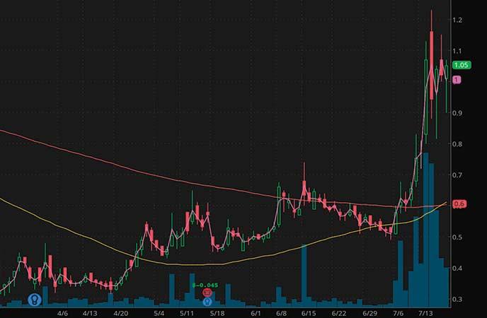 penny stocks to watch Adamis Pharmaceuticals (ADMP stock chart)