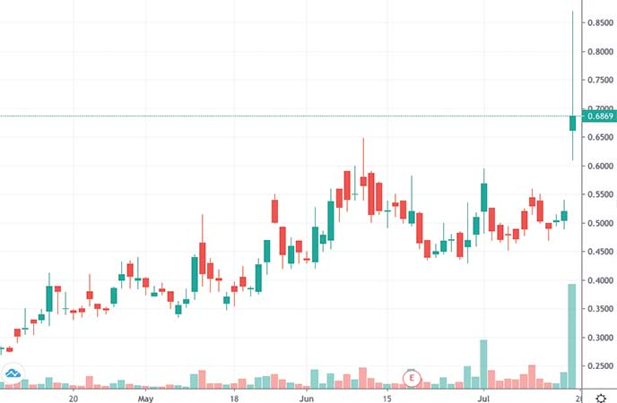 penny stocks to watch Bionano Genomics (BNGO stock chart)