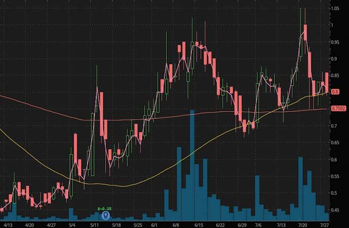 penny stocks to watch Regulus Therapeutics (RGLS stock chart)