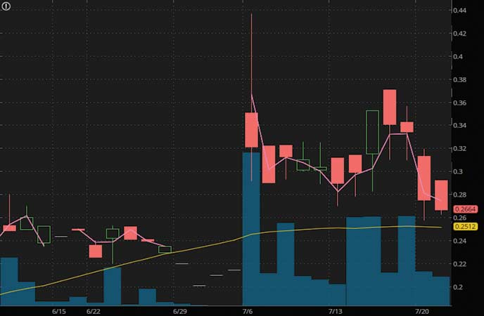 penny stocks to watch july Fandom Sports Media Corp (FDMSF stock chart)