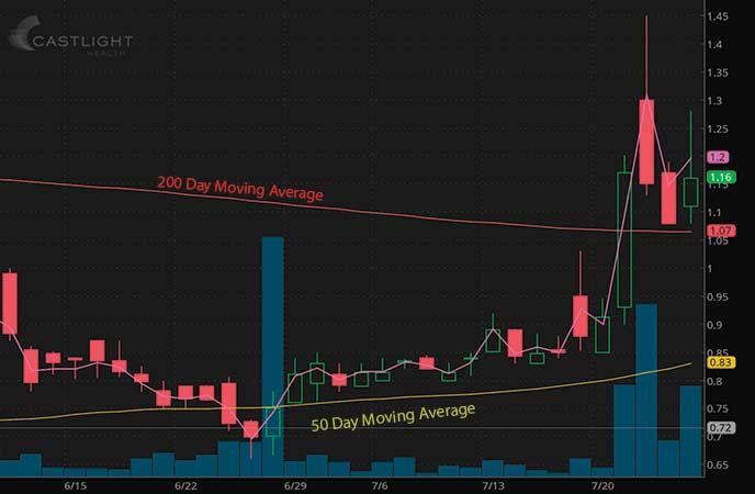 tech penny stocks to watch Castlight Health Inc. (CSLT stock chart)