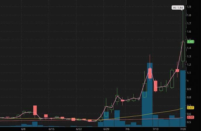 trading penny stocks Oragenics Inc. (OGEN stock chart)