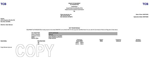 inpx FCC grant