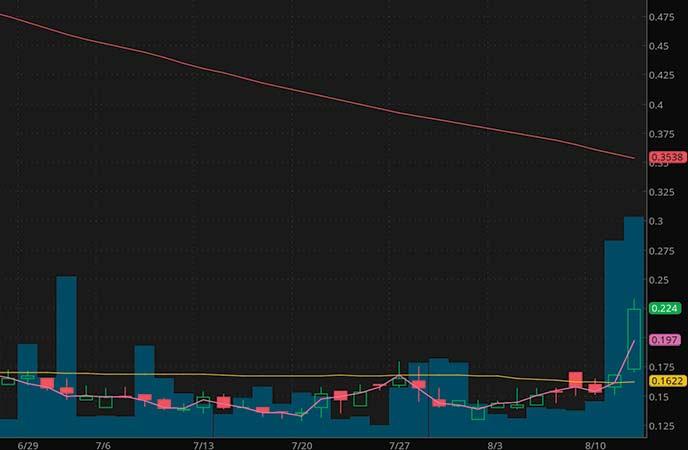 marijuana penny stocks to buy MariMed Inc. (MRMD stock chart)