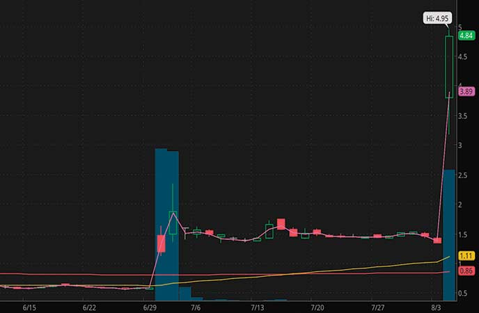 penny stocks to buy sell Alerity Therapeutics (ATHE stock chart)