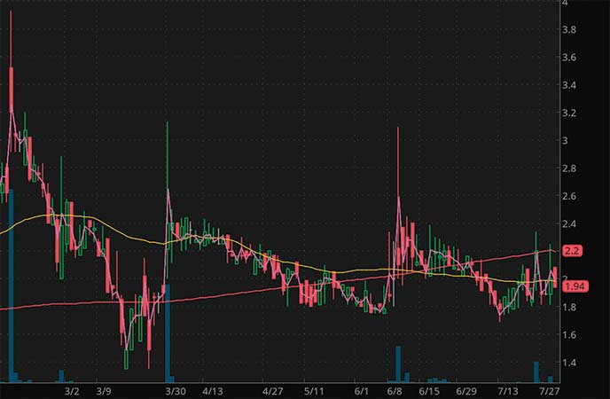 penny stocks to buy sell Datasea Inc. (DTSS stock chart)