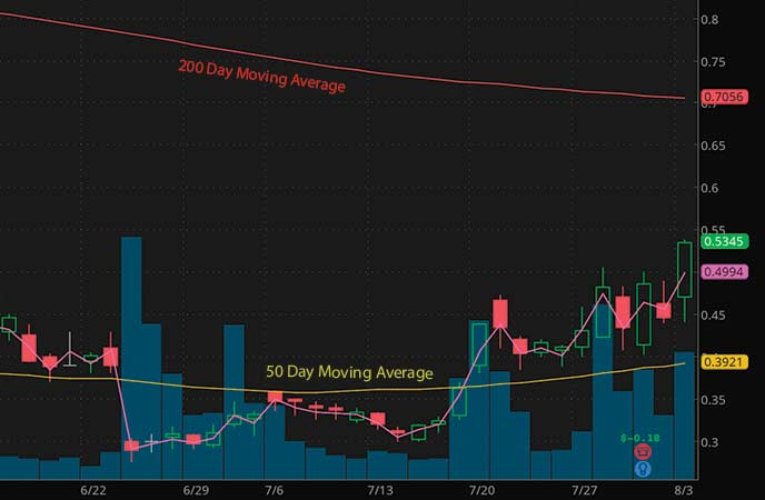 penny stocks to watch Avinger Inc. (AVGR stock chart)