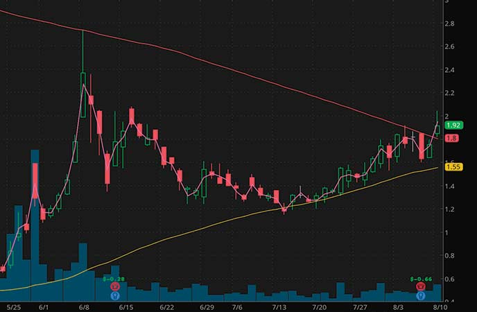 retail penny stocks to watch Party City Holdco Inc. (PRTY stock chart)