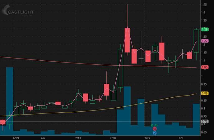 volatile penny stocks to watch Castlight Health Inc. (CSLT stock chart)