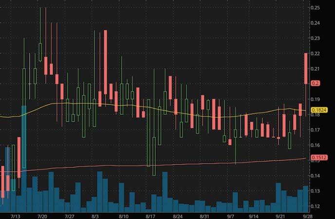 biotech penny stocks to watch GT Biopharma Inc. (GTBP stock chart)