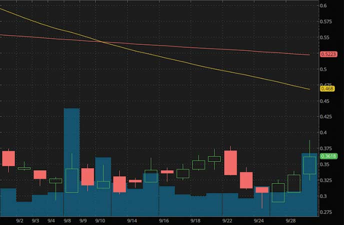 biotech penny stocks to watch HTG Molecular Diagnostics Inc. (HTGM stock chart)