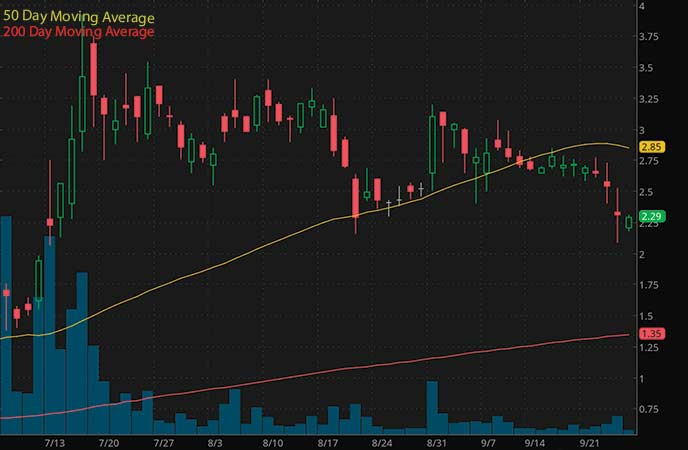 penny stocks on robinhood to watch now AgEagle Aerial Systems, Inc. (UAVS stock chart)