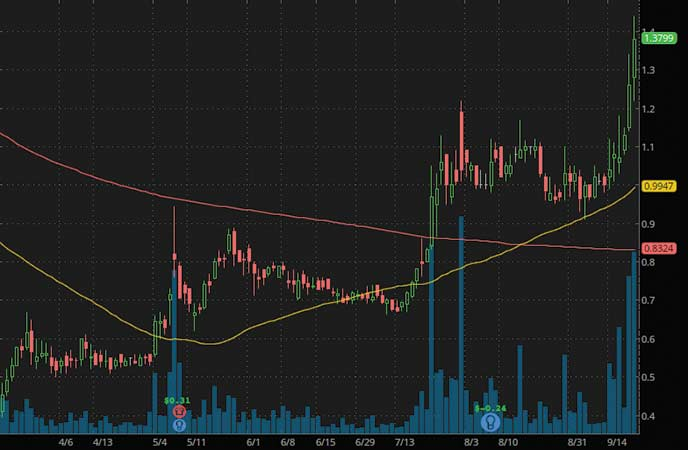 penny stocks to buy right now analyst rating Sesen Bio Inc. (SESN stock chart)