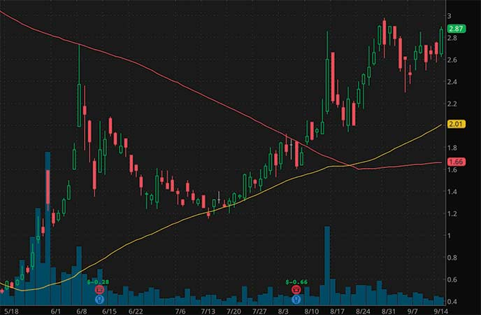 penny stocks to watch Party City Holdco Inc. (PRTY stock chart)