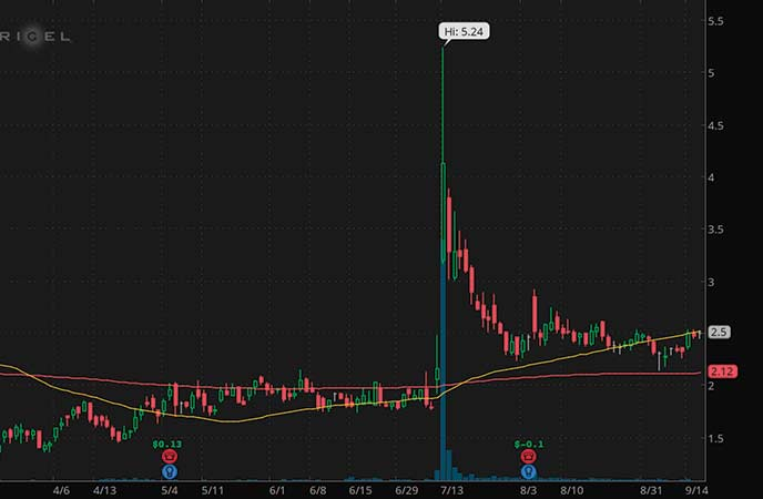 penny stocks to watch Rigel Pharmaceuticals (RIGL stock chart)