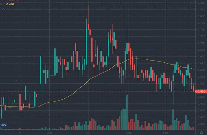 penny stocks to watch right now Freeman Gold Corp. (FMAN stock chart)