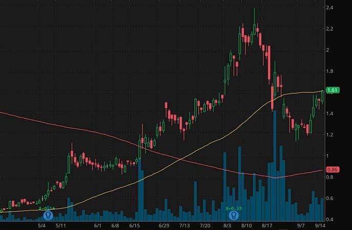 pre market movers penny stocks Lipocine Inc. (LPCN stock chart)