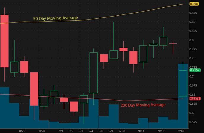 top high volume penny stocks to watch Adamis Pharmaceuticals Corporation (ADMP stock chart)