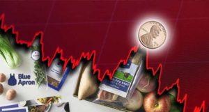 blue apron stock APRN stock falling
