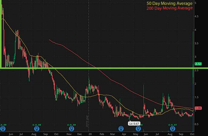 hot penny stocks to watch AgeX Therapeutics (AGE stock chart)