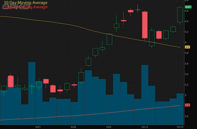 hot penny stocks to watch OPKO Health Inc. (OPK stock chart)