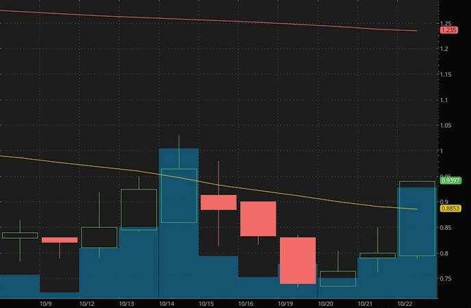 penny stocks on robinhood to buy under1 dollar IMAC Holdings Inc. (IMAC stock chart)