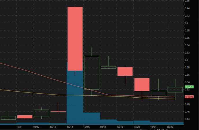 penny stocks on robinhood to buy under1 dollar Novan Inc. (NOVN stock chart)