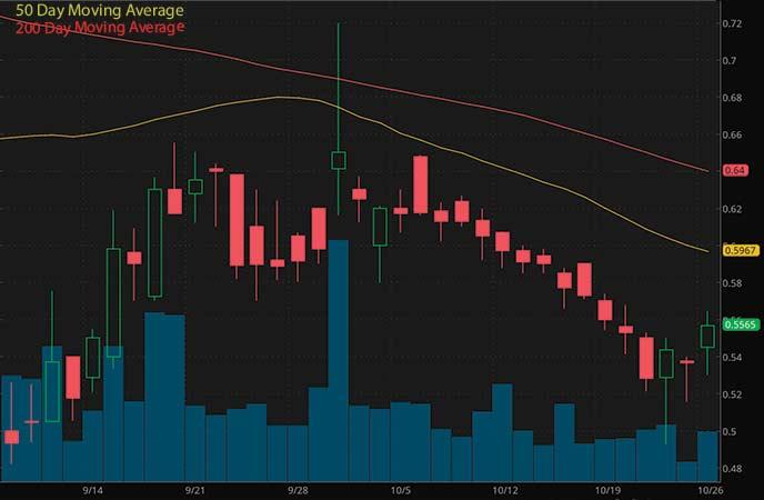penny stocks on the rise Bionano Genomics (NASDAQ BNGO stock chart)