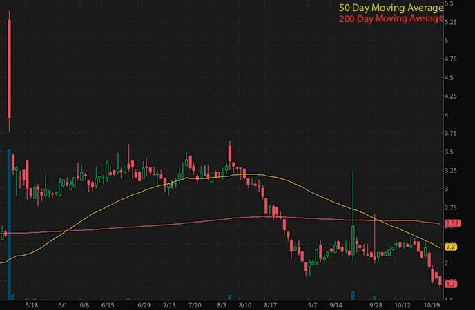 penny stocks to watch Cellect Biotechnology Ltd. (APOP stock chart)
