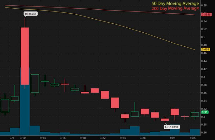 penny stocks to watch Jaguar Health (JAGX stock chart)