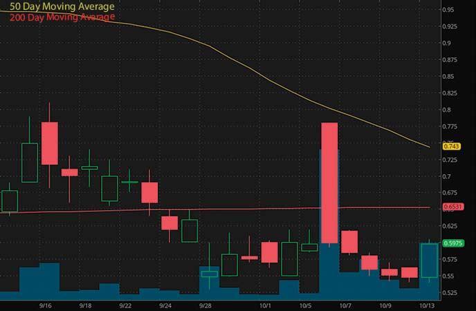 penny stocks under $1 to watch Oragenics Inc. (OGEN stock chart)