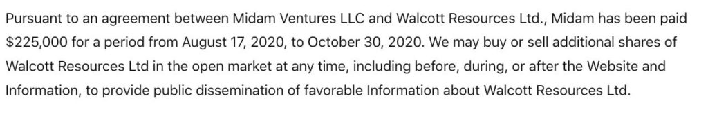 walcott disclaimer oct