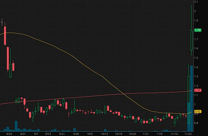 biotech penny stocks to watch Cocrystal Pharma Inc. (COCP stock chart)