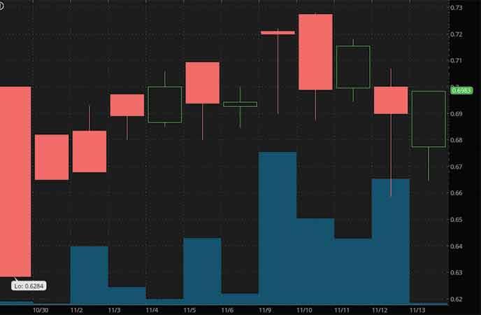 hot penny stocks to watch Havn Life Sciences (HAVLF stock chart)