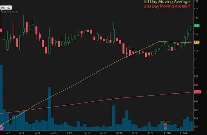 penny stocks to buy avoid Sunesis Pharmaceuticals (SNSS stock chart)