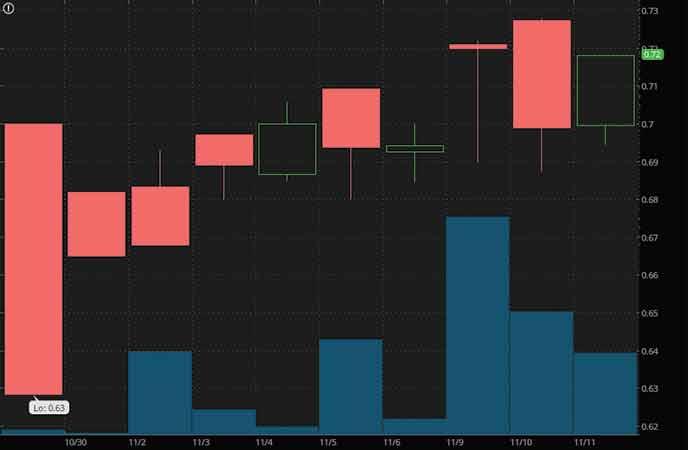 penny stocks to watch Havn Life Sciences (HAVLF stock chart)