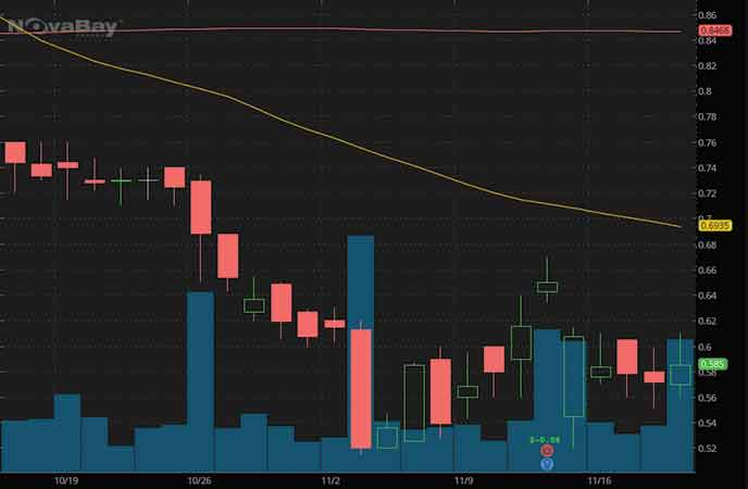 penny stocks to watch NovaBay Pharmaceuticals Inc. (NBY stock chart)