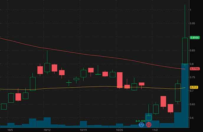 robinhood penny stocks to buy avoid Hexo Corp. (HEXO stock chart)