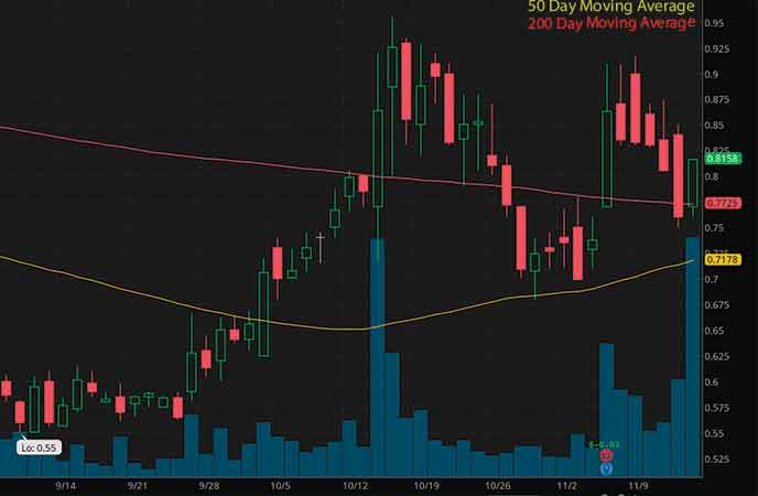 robinhood penny stocks to watch 22nd Century Group Inc. (XXII stock chart)