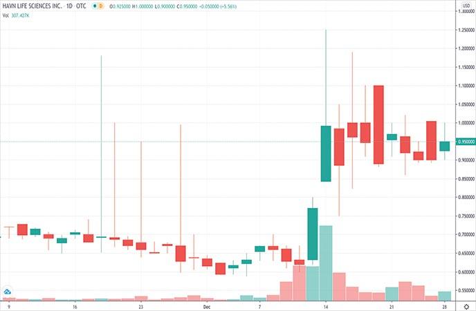 Biotech Penny Stocks to Watch Havn Life Sciences HAVLF Stock Chart